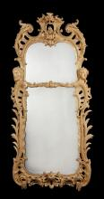 A large and impressive George II style carved giltwood pier mirror