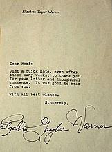 Elizabeth Taylor handwritten letter