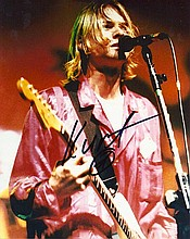 Kurt Cobain signed photograph