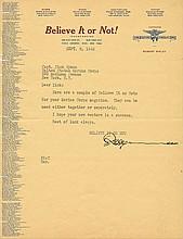 Robert Ripley signed letter