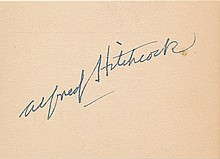 Alfred Hitchcock Autograph