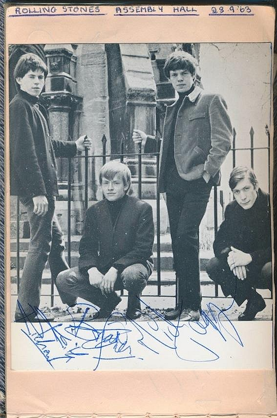 The Rolling Stones. An autographed publicity photograph