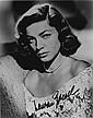 Lauren Bacall Autographed publicity photograph