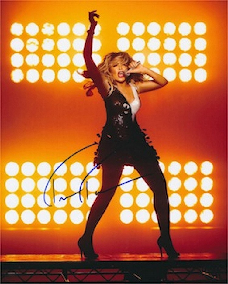 Tina Turner Autographed publicity photograph