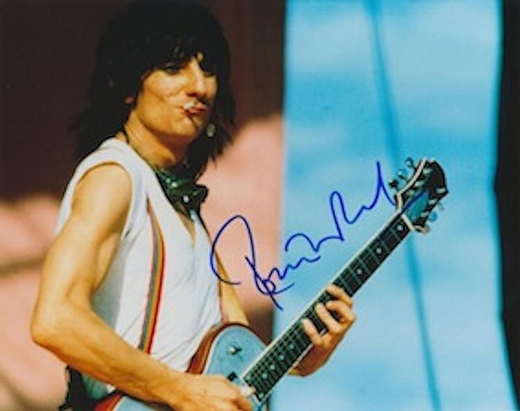 Ronnie Wood Autographed publicity photograph
