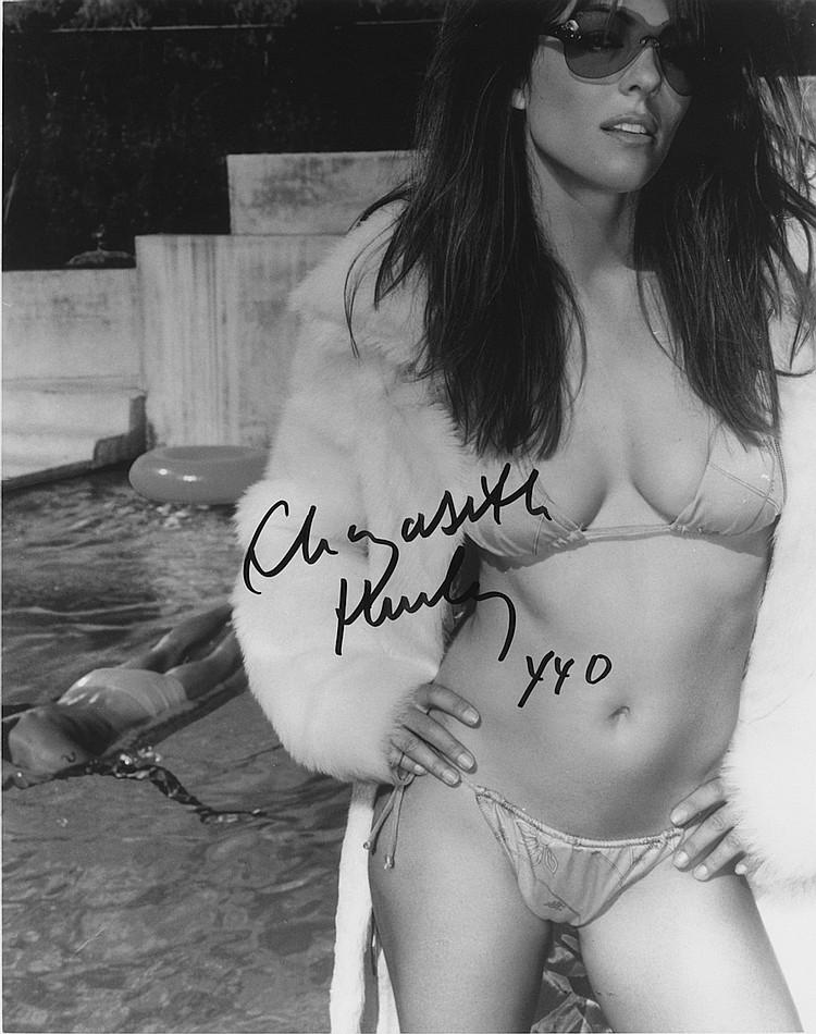 Liz Hurley Autographed publicity photograph