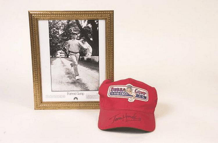 Forrest Gump baseball hat signed by Tom Hank