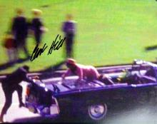 JFK Assassination CLINT HILL - Limo Photo Signed