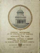 Program - Dedication of GRANT'S TOMB 1892