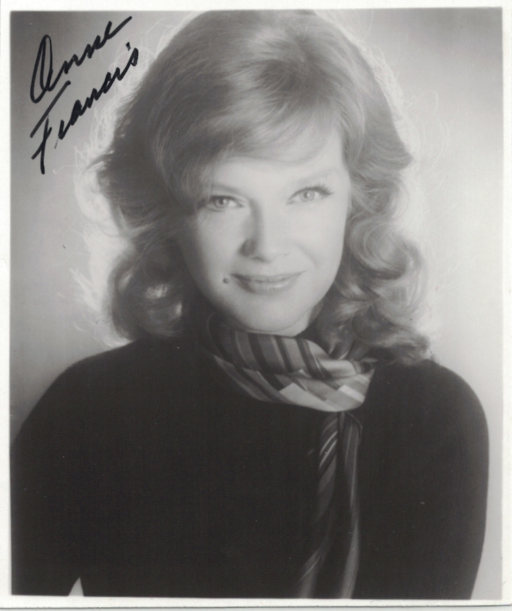 Actress ANNE FRANCES - Photo Signed