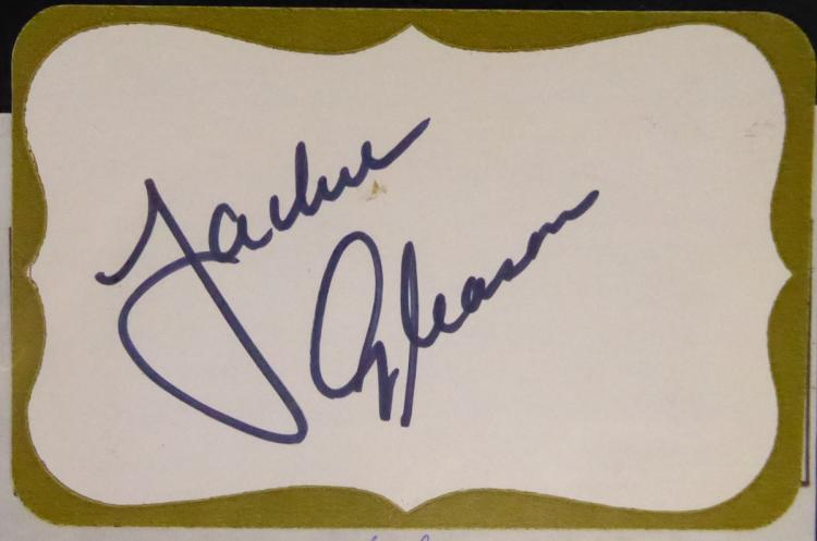 Comedian, Actor JACKIE GLEASON - Mailing Label Signed