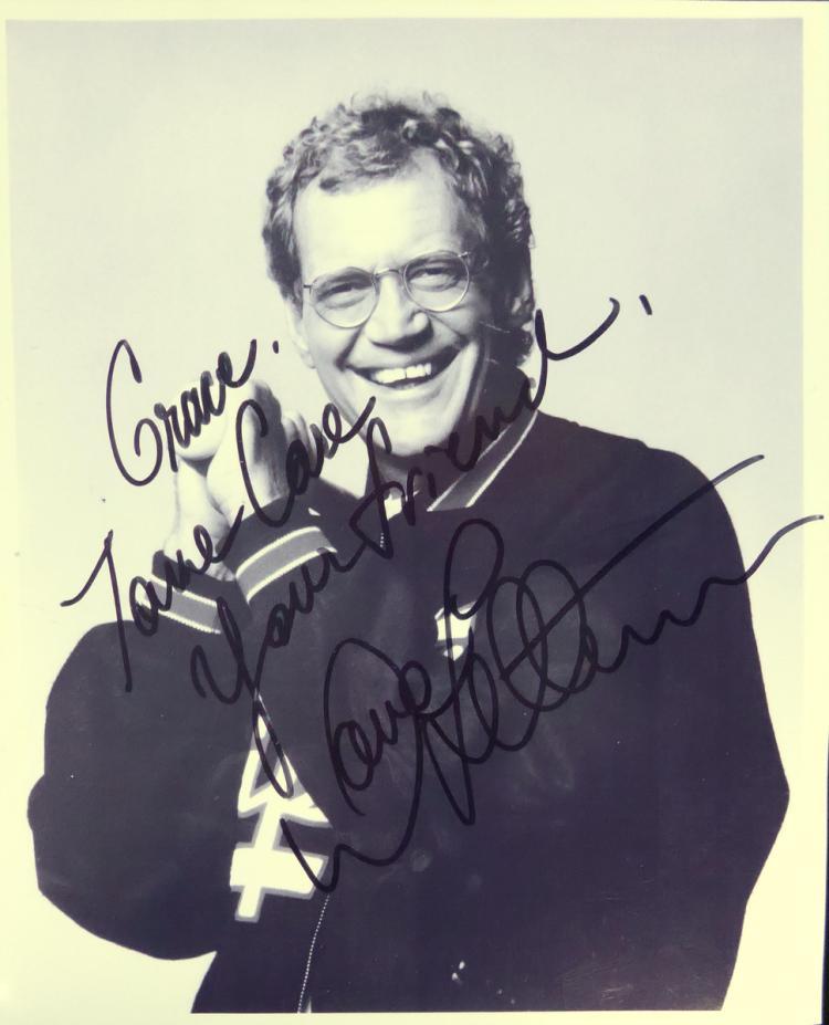 Comedian, TV Host DAVID LETTERMAN - Photo Signed