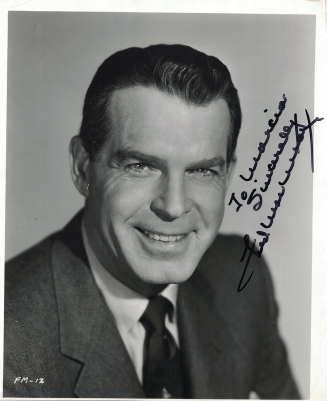 Actor FRED MacMURRAY - Photo Signed