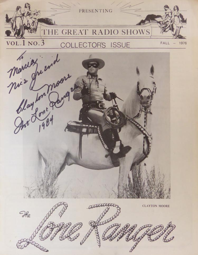 Actor CLAYTON MOORE - Lone Ranger Magazine Signed