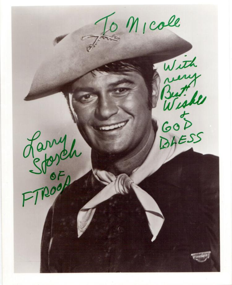 Actor, Comedian LARRY STORCH - F Troop Photo Signed