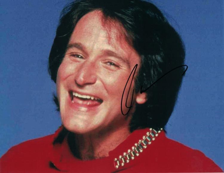 Actor, Comedian ROBIN WILLIAMS - Mork Photo Signed