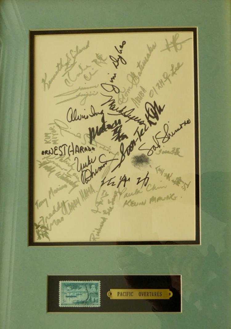 1976 Musical PACIFIC OVERTURES - Cast Signed (Framed)