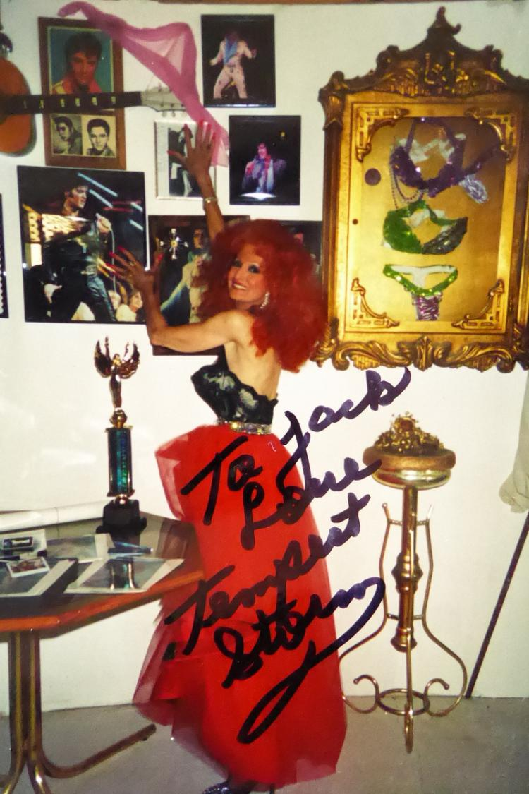Exotic Dancer TEMPEST STORM - Two Photos Signed