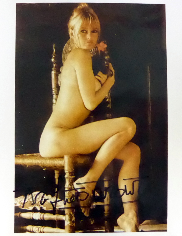 French Actress BRIGITTE BARDOT - Topless Photo Signed