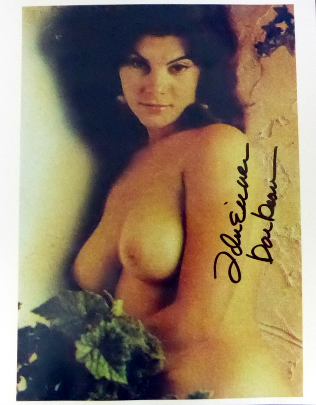 Actress ADRIANNA BARBEAU - Topless Photo Signed