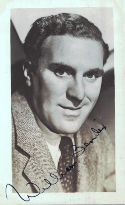 Actor WILLIAM BENDIX - Photo Signed and Cut Signature