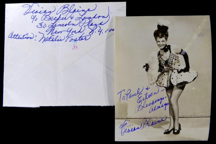 VIVIAN BLAINE - Photo Signed