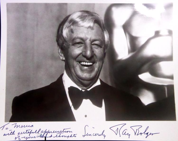 Oz Actor RAY BOLGER - Photo Signed