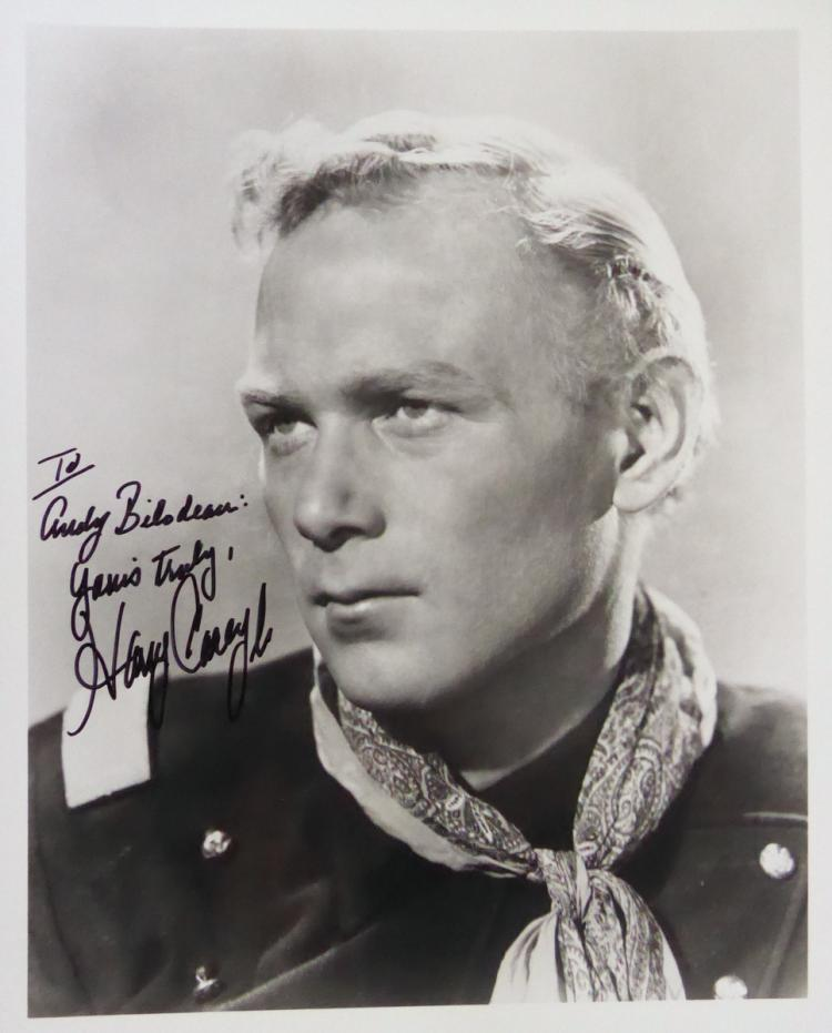 Actor HARRY CAREY, JR. - Photo Signed