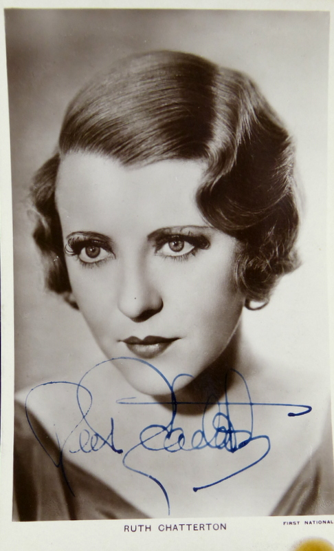 Actress RUTH CHATTERTON - Photo Signed