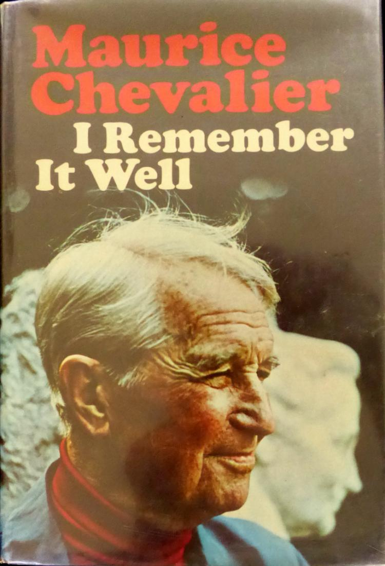 MAURICE CHEVALIER - His Book Signed