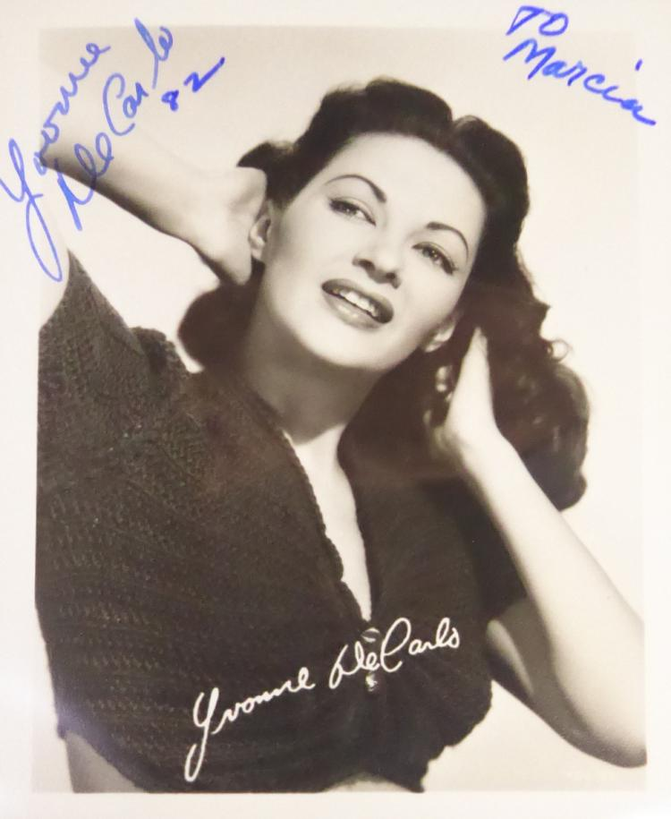 Actress YVONNE DeCARLO - Photo Signed