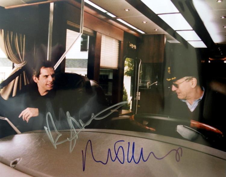 Actors ROBERT DeNIRO & BEN STILLER - Photo Signed