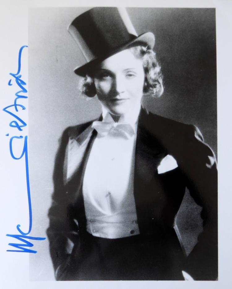 German Actress MARLENE DIETRICH - Movie Photo Signed