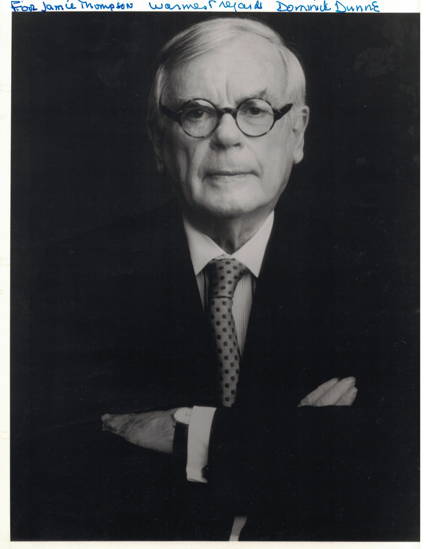 Producer DOMINICK DUNNE - Photo Signed