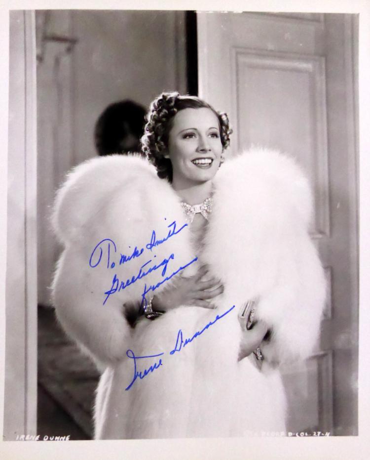 Actress IRENE DUNNE - Photo Signed