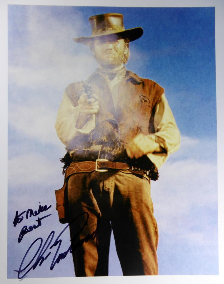 Actor CLINT EASTWOOD - Movie Photo Signed