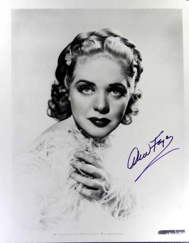 Actress ALICE FAYE - Photo Signed