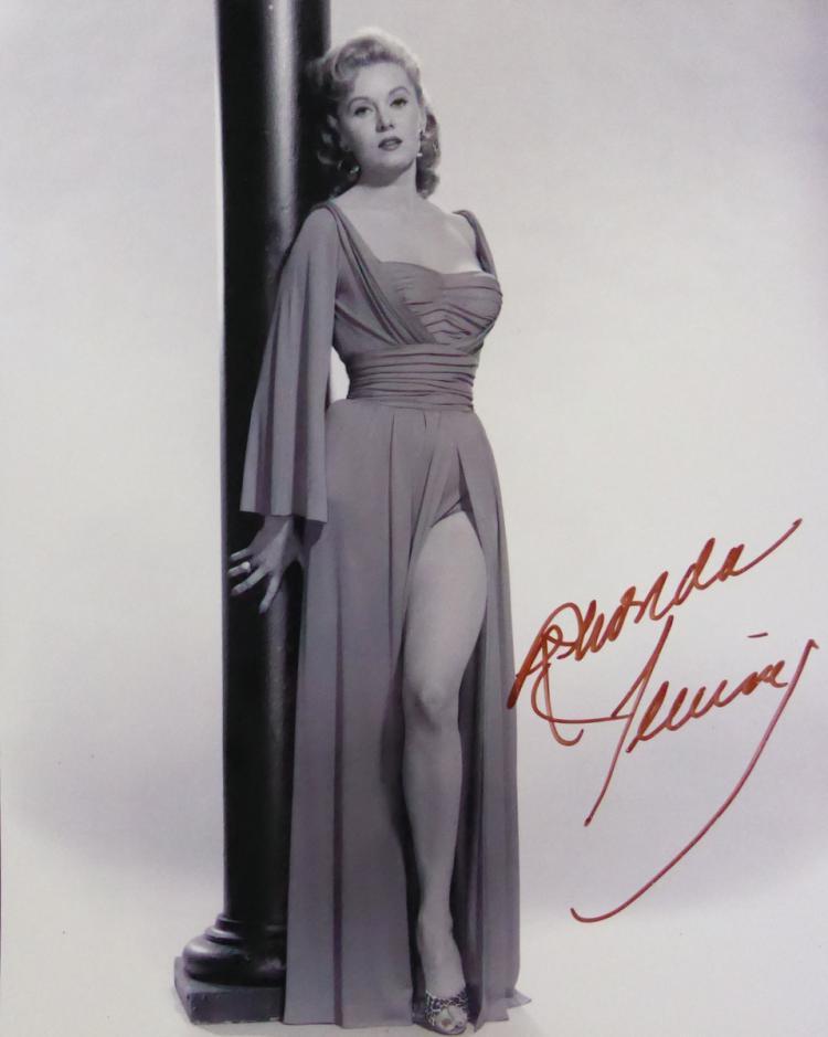 Actress RHONDA FLEMING - Photo Signed