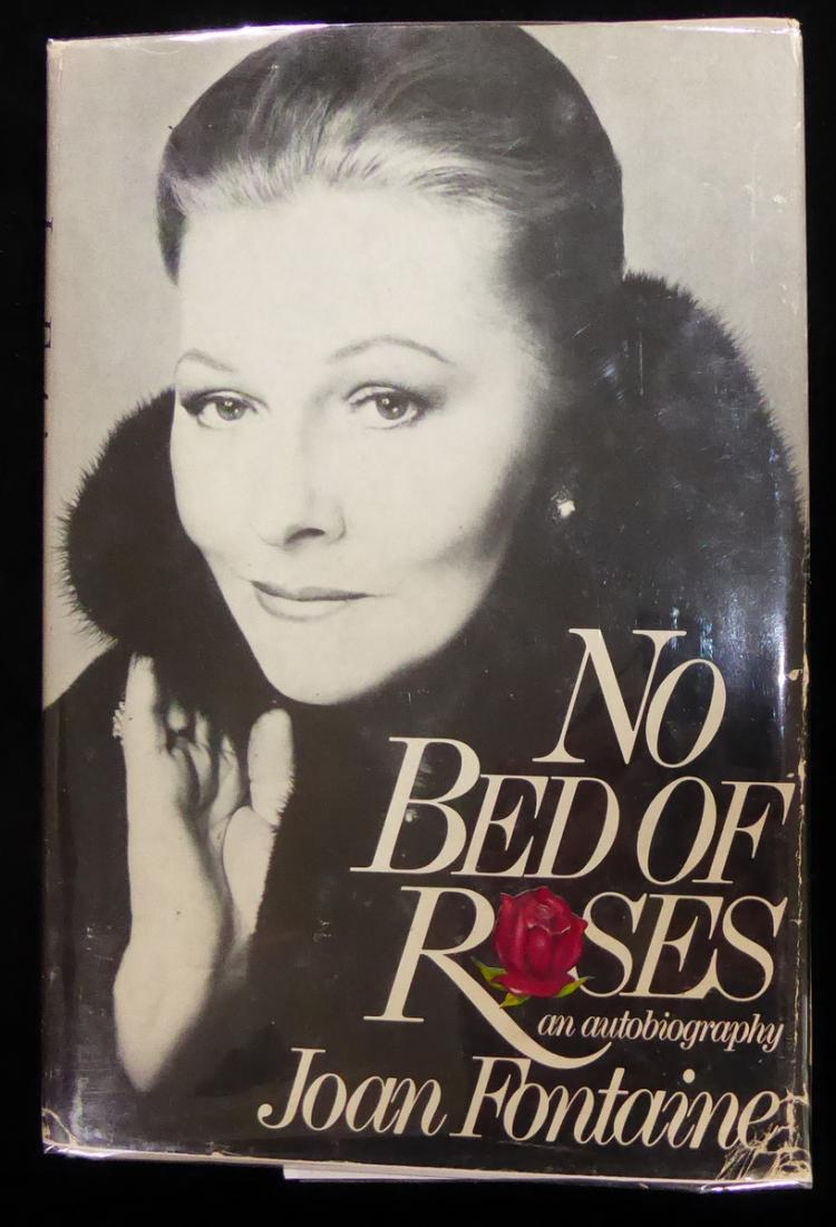Actress JOAN FONTAINE - Her Book Signed