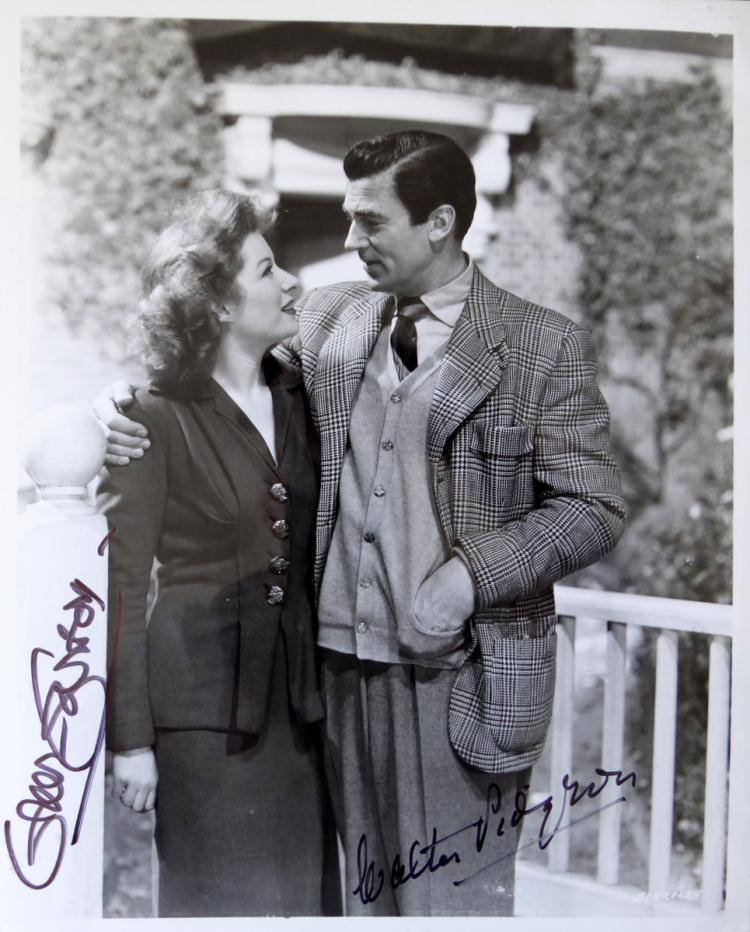 GREER GARSON & WALTER PIDGEON - 1947 Movie Still Signed