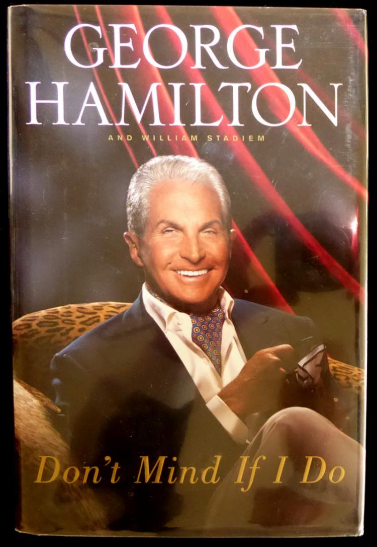 Actor GEOTGE HAMILTON - His Book Signed, 1st Ed
