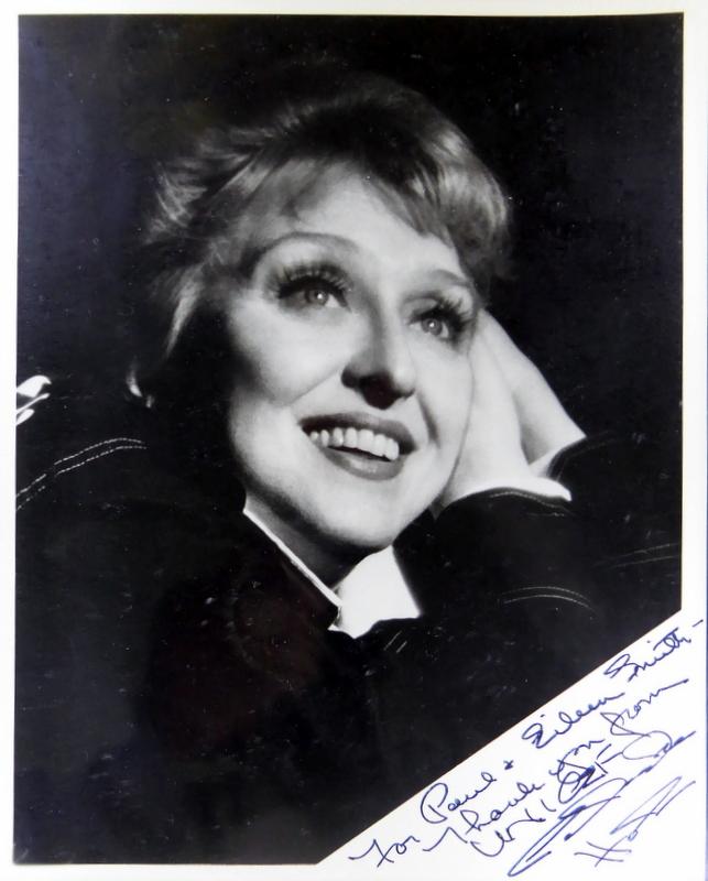 Actress CELESTE HOLM - Photo Signed