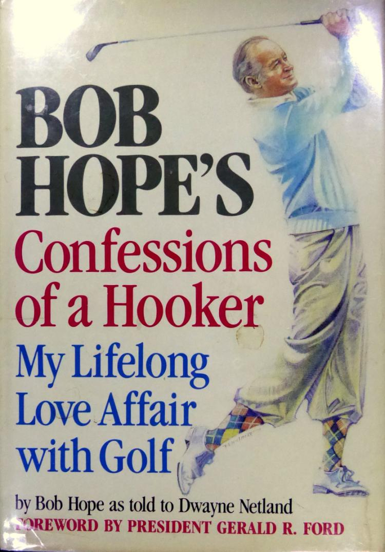 Comedian Actor BOB HOPE - His Book Signed by 12 Stars