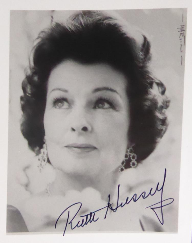 Actress RUTH HUSSEY - Three items Signed