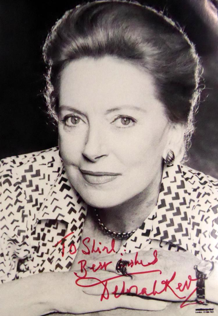 Scottish Actress DEBORAH KERR - Photo Signed