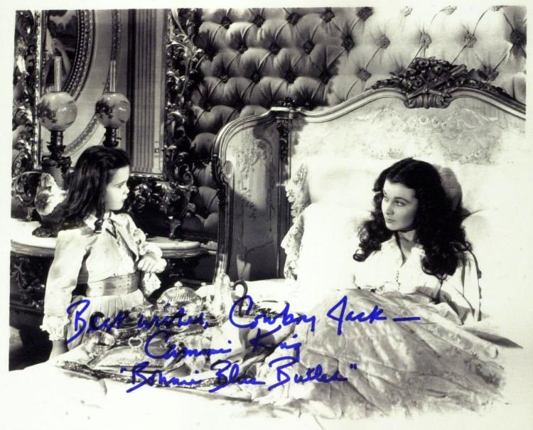 GWTW Chils Actress CAMMIE KING - Photo Signed