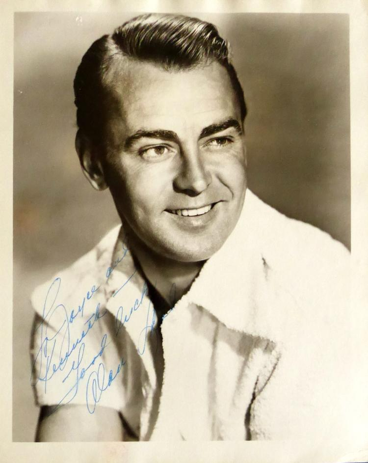 Actor ALAN LADD - Photo Signed