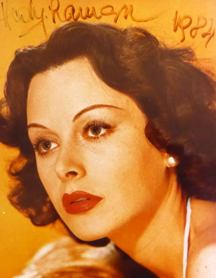 Actress, Inventor HEDY LAMAR - Photo Signed