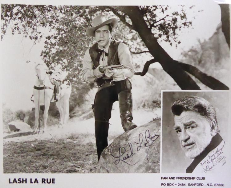 Cowboy Actor LASH LaRUE - Photo Signed