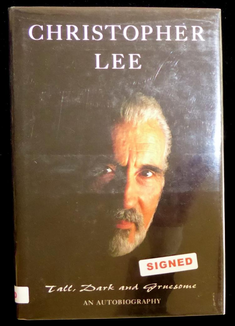 British Actor CHRISTOPHER LEE - His Book Signed, 1st Ed